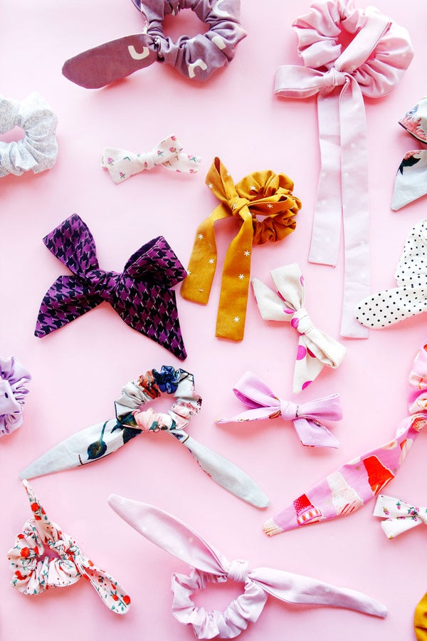 Image of the BOWS + SCRUNCHIES PDF pack - 6 different styles