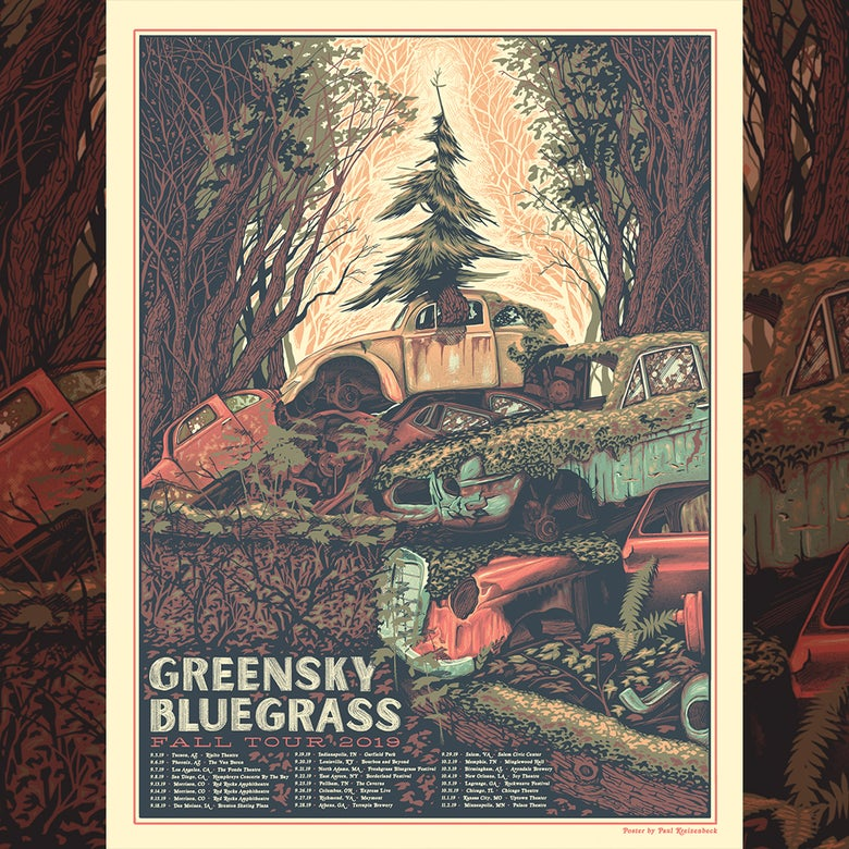 Image of Greensky Bluegrass Fall Tour 2019 Poster