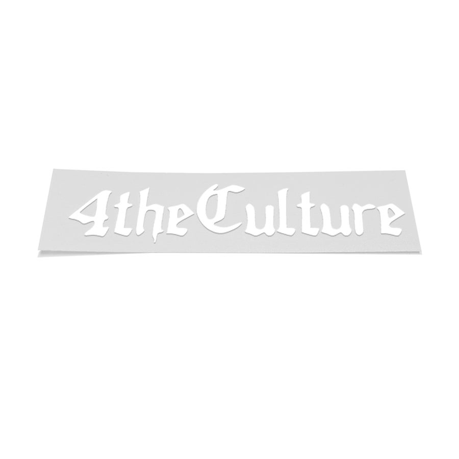 Image of 4THECULTURE DECAL - WHITE (2)
