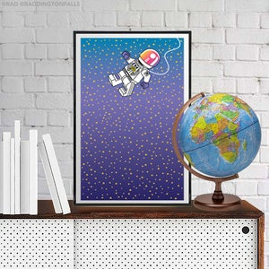 "Image of Astronaut Giclee Print 11""x17"" -  Free Shipping USA"
