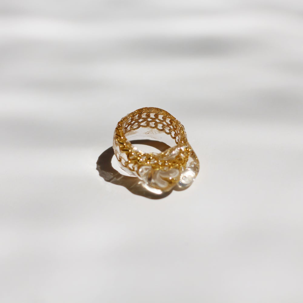 Image of Drip Ring Gold - 2
