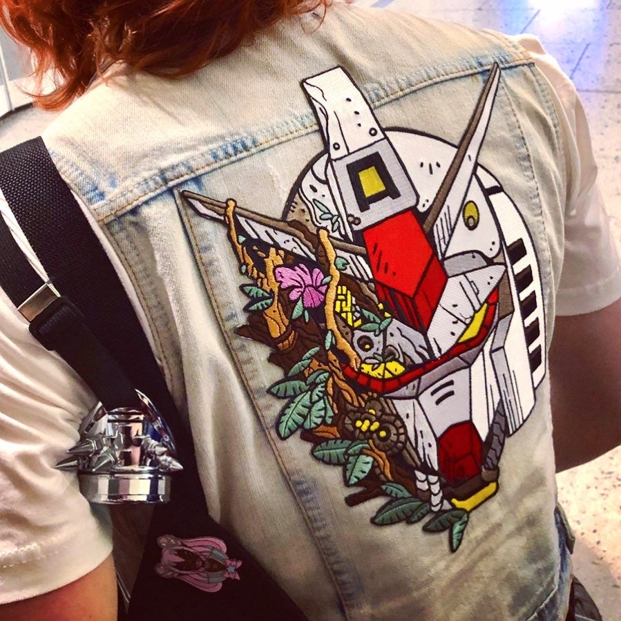 Image of Forest Gundam Back Patch - 12 inch