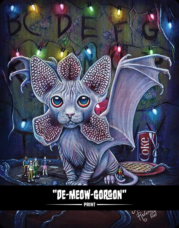 Image of De-MEOW-Gorgon (BITTENS) - Print