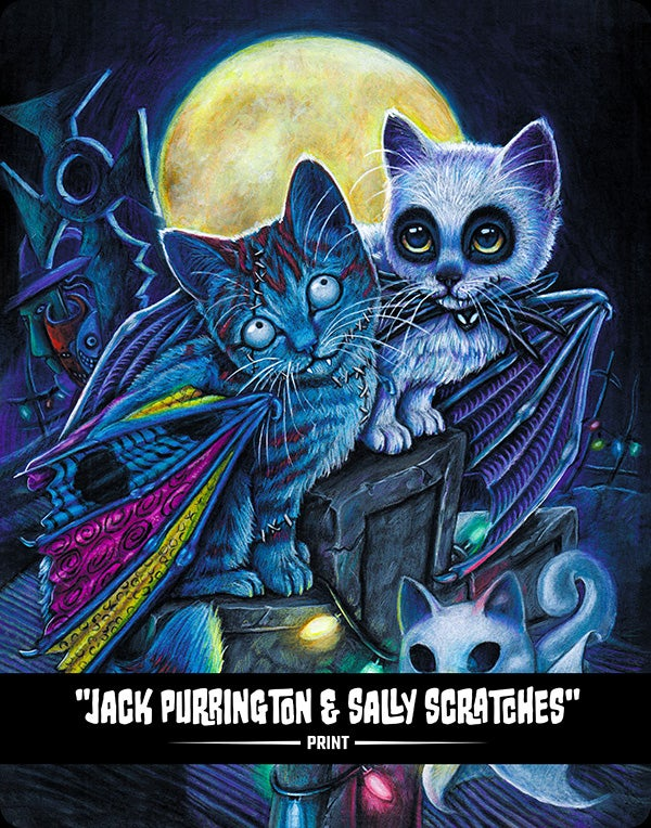 Jack Purrington & Sally Scratches (BITTENS) - Print