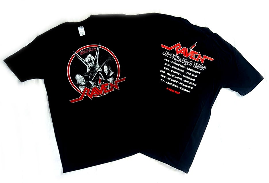 Image of RAVEN - Aussie NWOBHM Tour Shirt