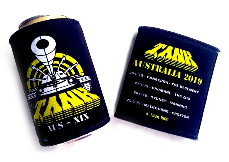 Image of TANK - Aussie NWOBHM Tour - Stubby Cooler