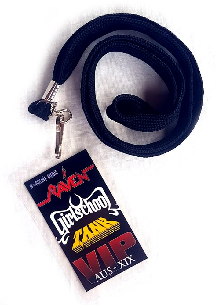 Image of VIP LAMINATE - NWOBHM Girlschool + Raven + Tank - Australian Tour 2019