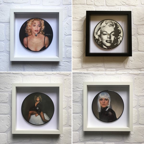 Image of Framed 7 inch Picture/Coloured/Rare Vinyl Singles