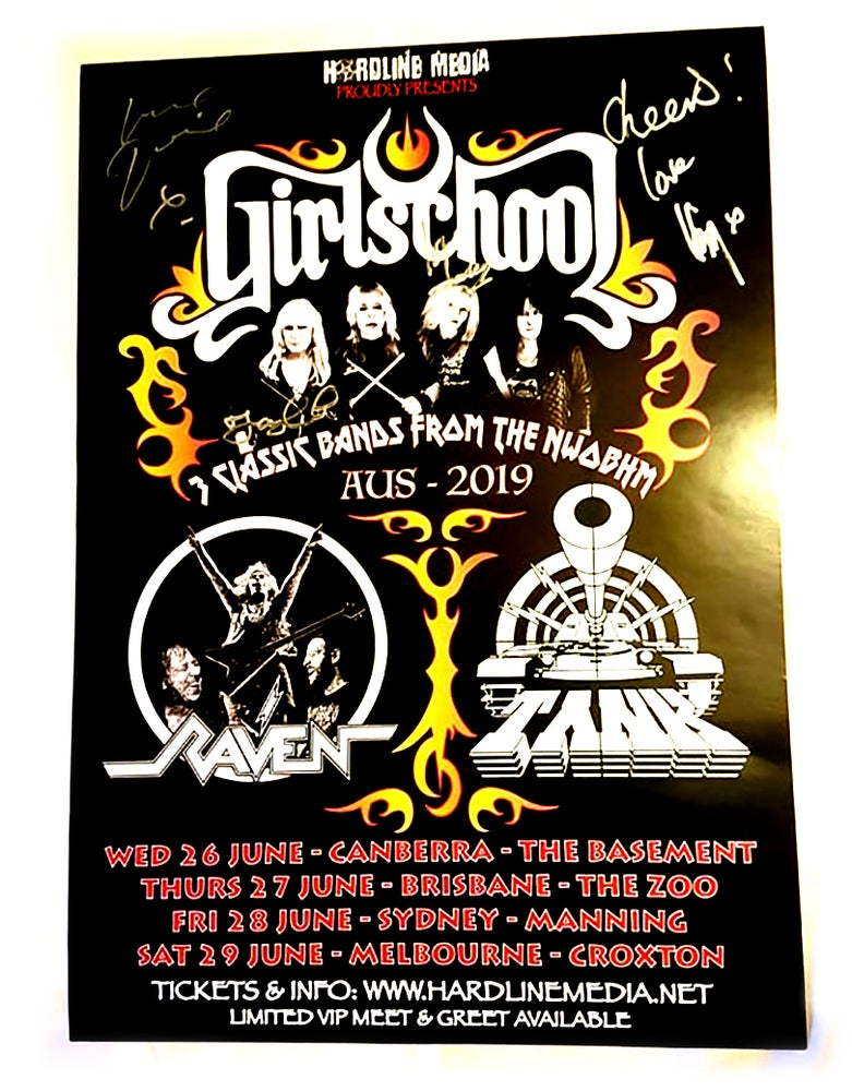 Image of POSTER (SIGNED) - Girlschool Australian Tour 2019