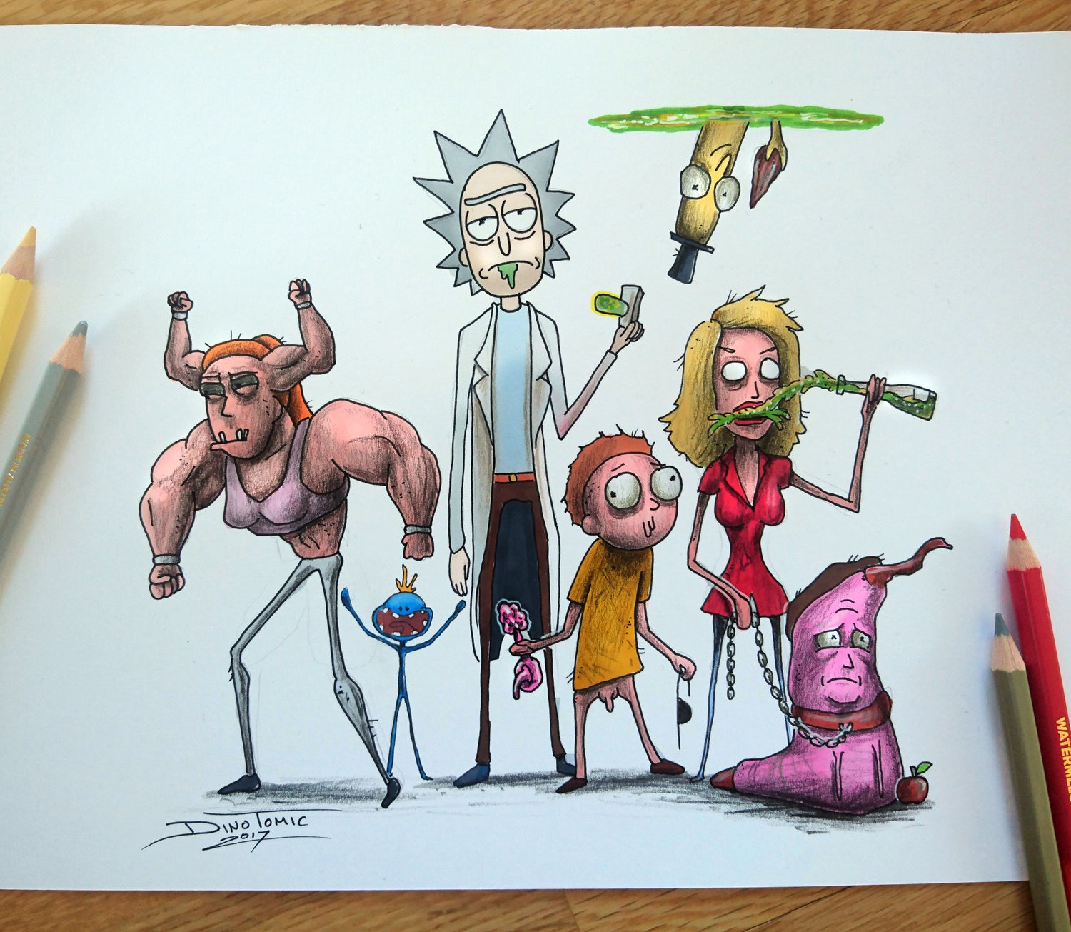 Image of #145 Rick and Morty Creepyfied