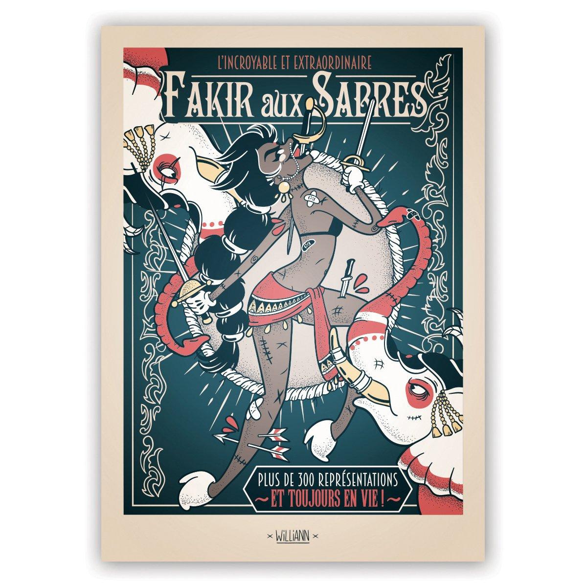 Image of L'Incroyable et Extraordinaire Fakir aux Sabres