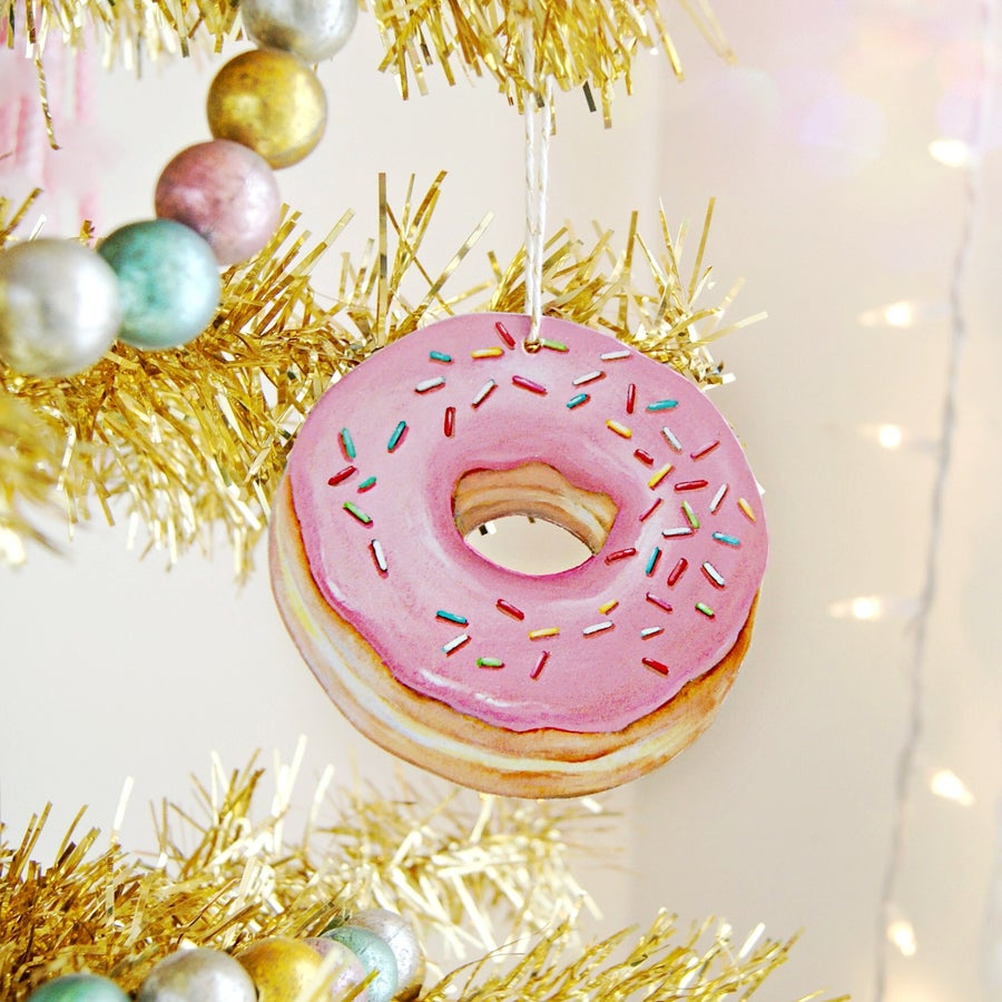 Image of Pink Donut ornament