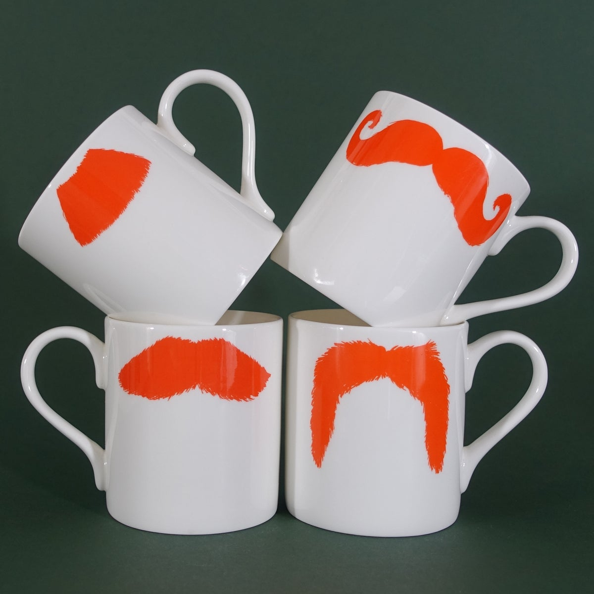 Image of Original Ginger Moustache Mug - Set of Four