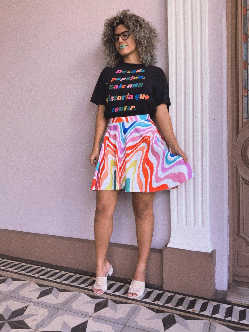 Image of Rainbow Roadtrip Flowy Skirt