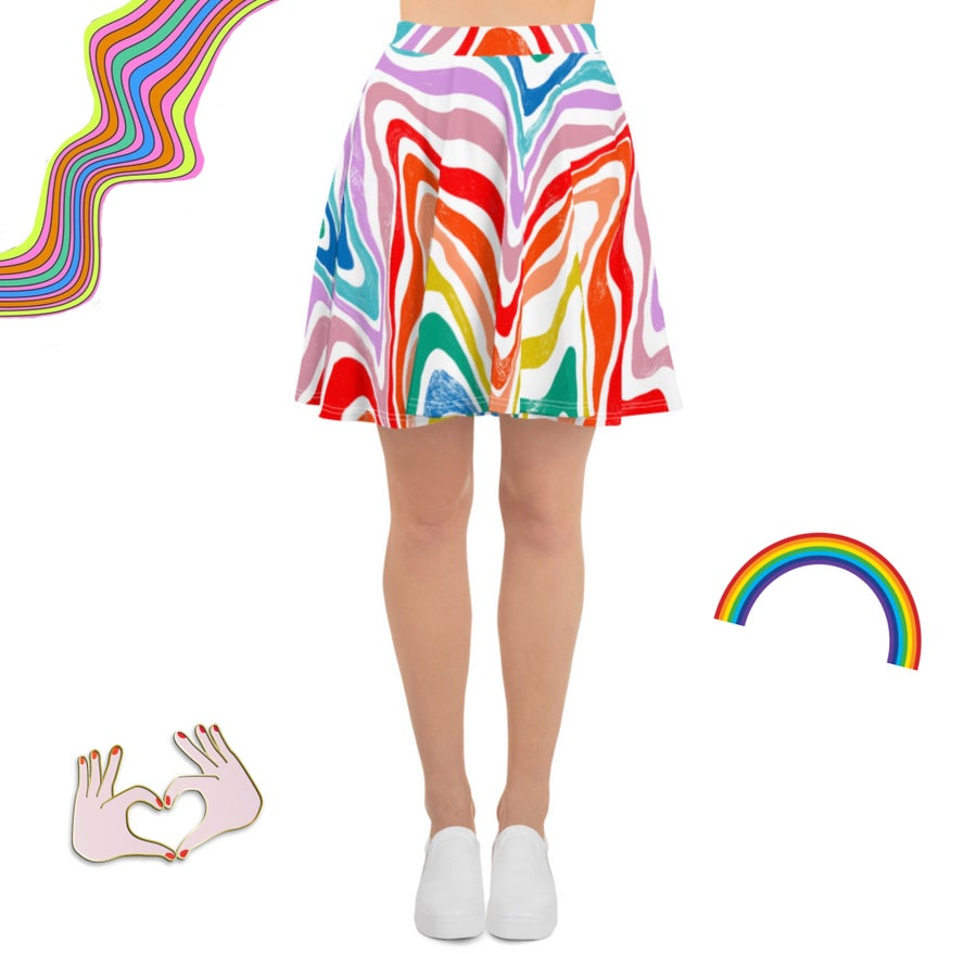 Image of Rainbow Roadtrip Flowy Skirt