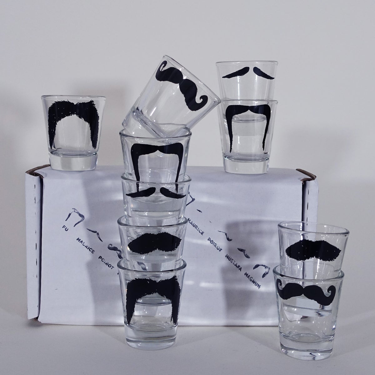 Image of Moustache Shot Glasses - Set of 10