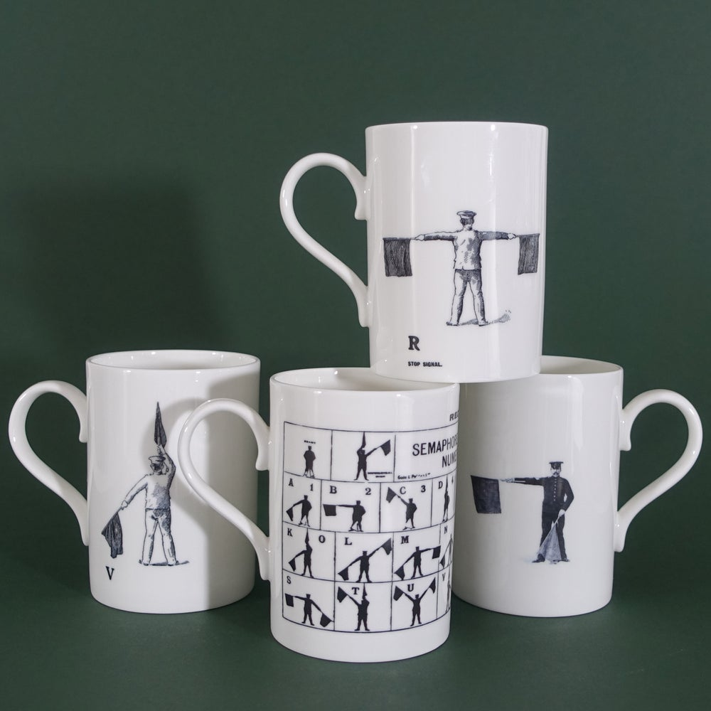 Image of Semaphore Mug - Set Of 4