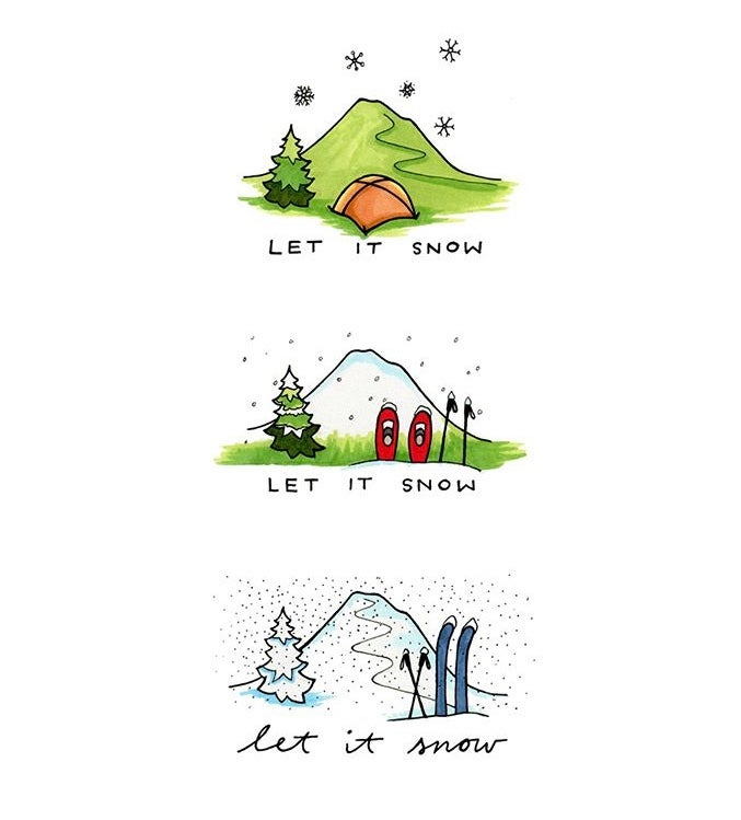 Image of Let It Snow holiday card