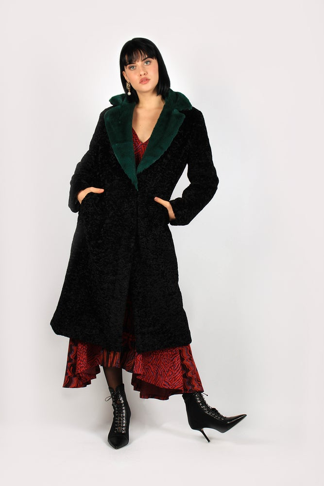 Image of CAPPOTTO CLOE NERO/VERDE 389 - 50%