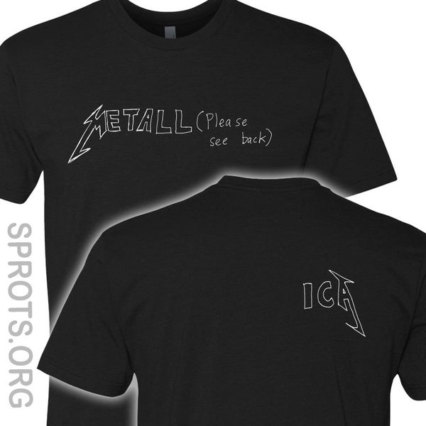 Image of METALL (PLEASE SEE BACK) ICA Screen-Printed T-Shirt