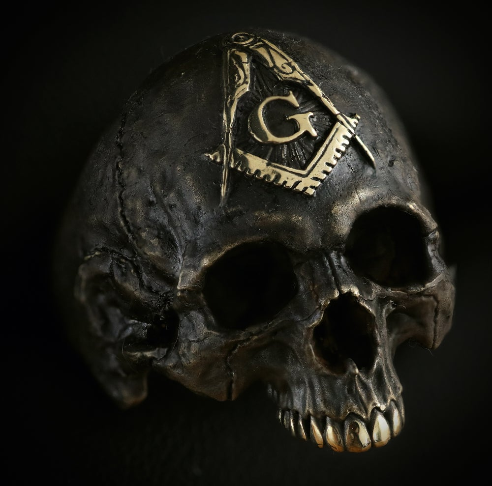Image of Masonic Skullring
