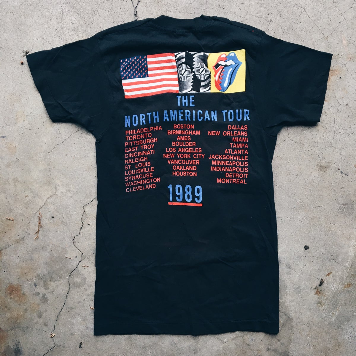 Image of Original 1989 Rolling Stones North American Tour Tee.