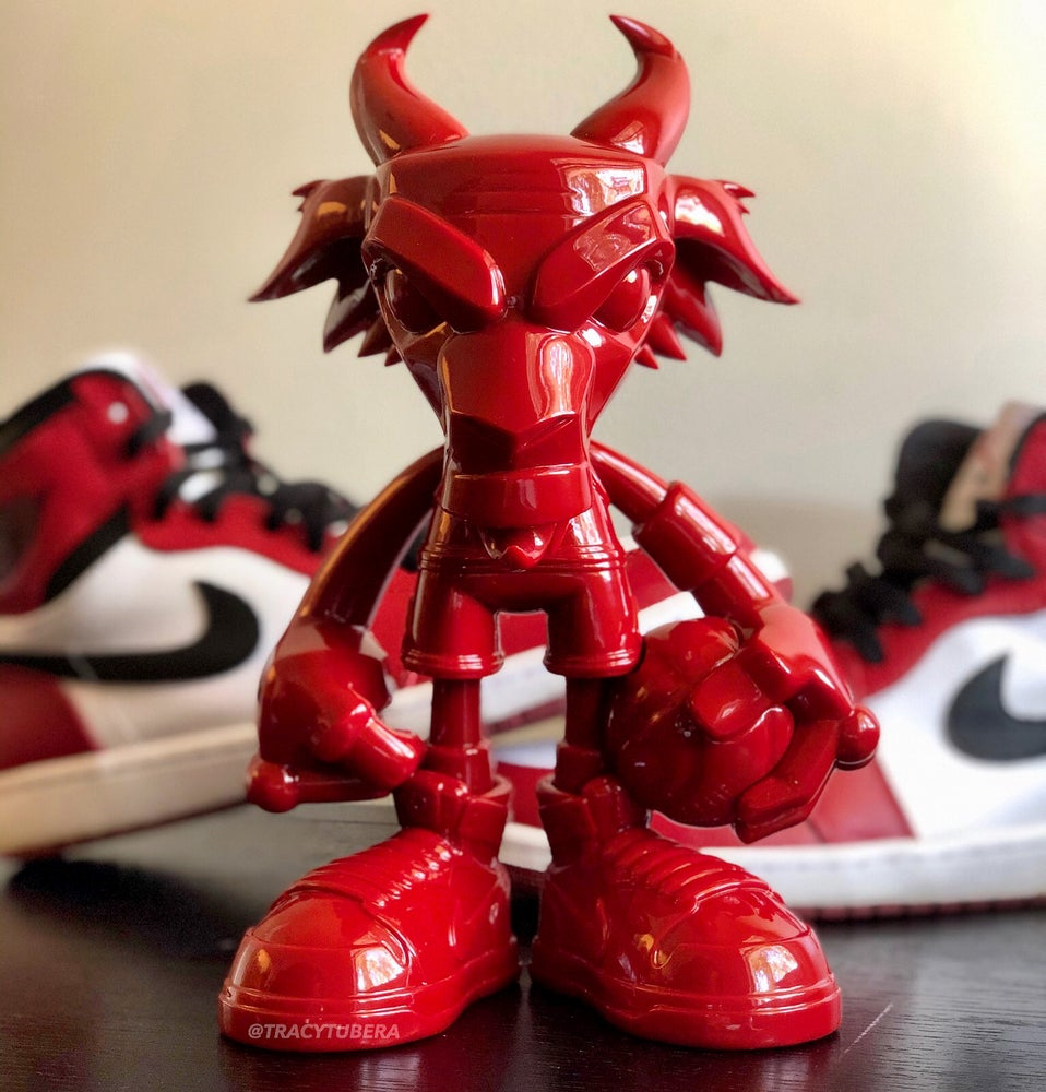 Image of THE G.O.A.T. RESIN 'CHICAGO RED' EDITION