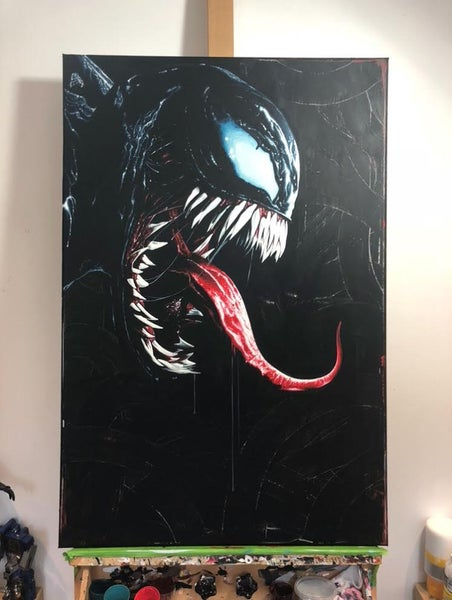 Image of 'VENOM' - ORIGINAL ACRYLIC PAINTING