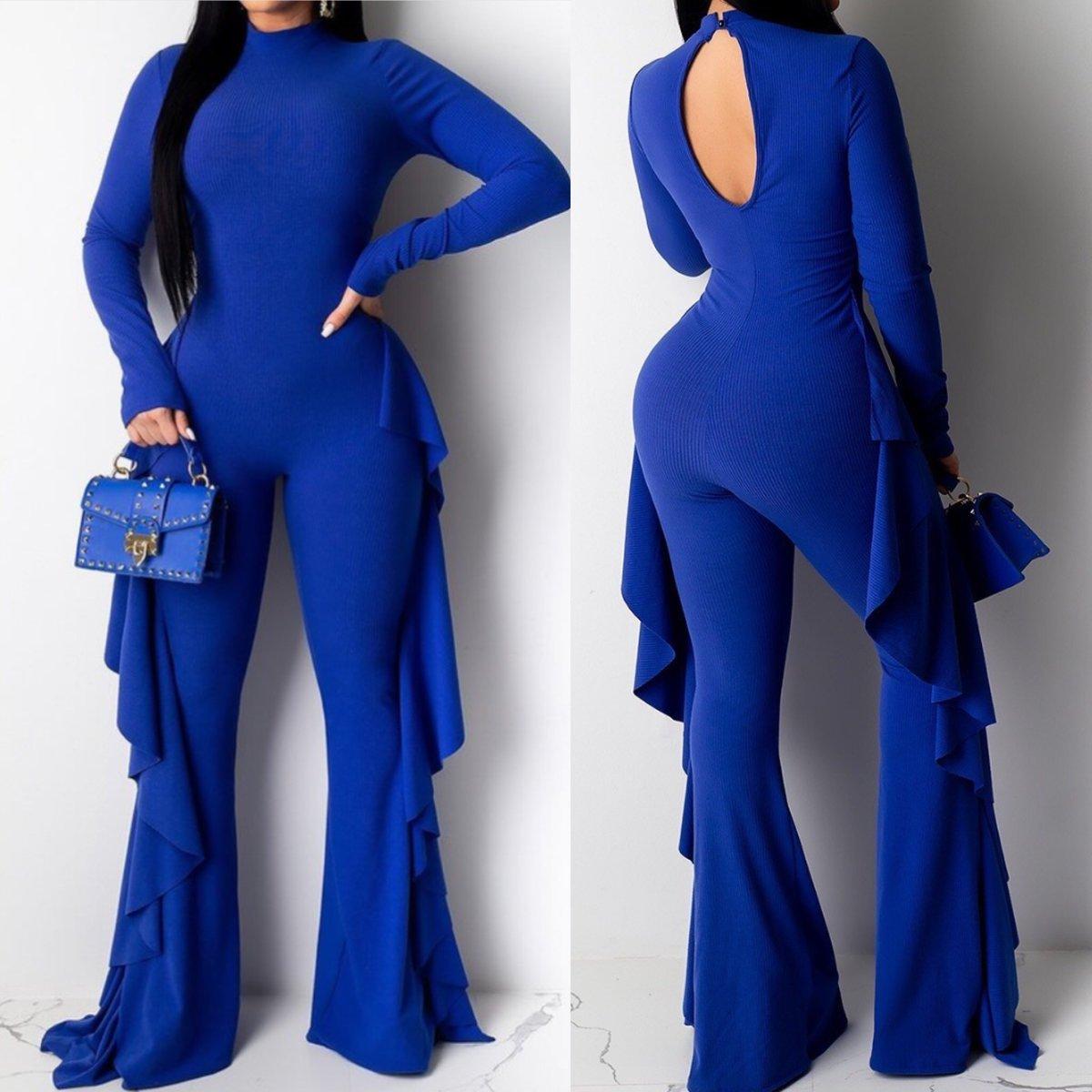Image of Blue Levy Jumpsuit