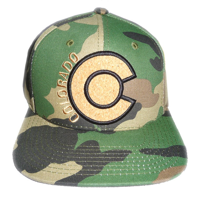 Image of COLORADO CAMO CORK LOGO SNAPBACK HAT