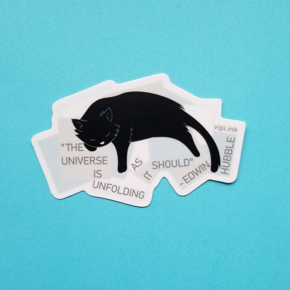 Image of Edwin Hubble's Cat Sticker
