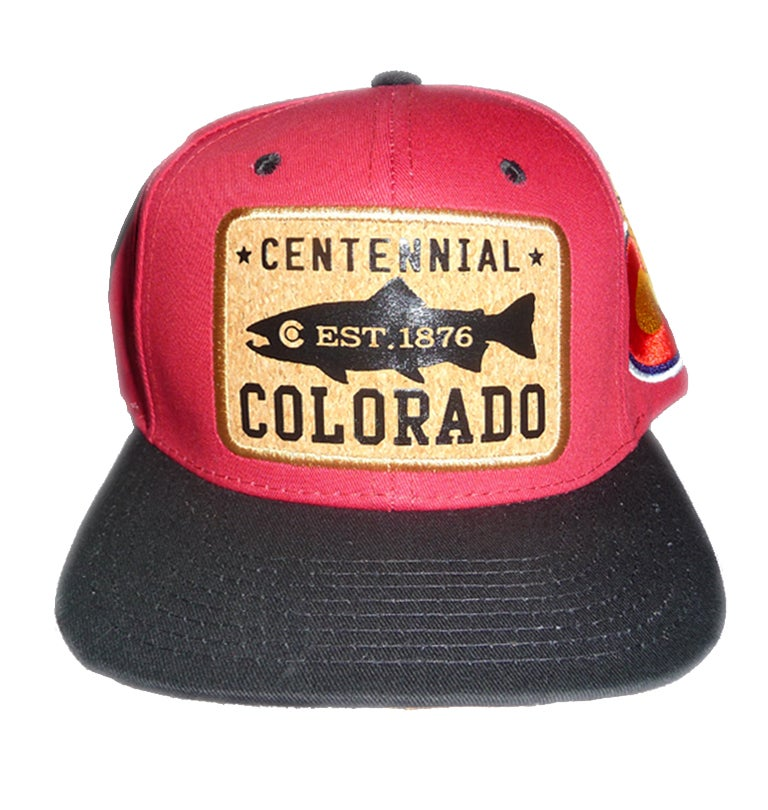 Image of COLORADO STATE SNAPBACK HAT MAROON AND BLACK