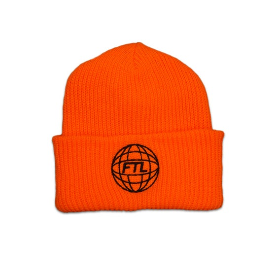 Image of FTL World Beanie (Safety Orange)