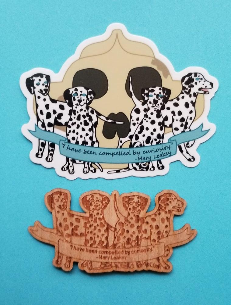 Image of Mary Leakey's Dalmatians Sticker