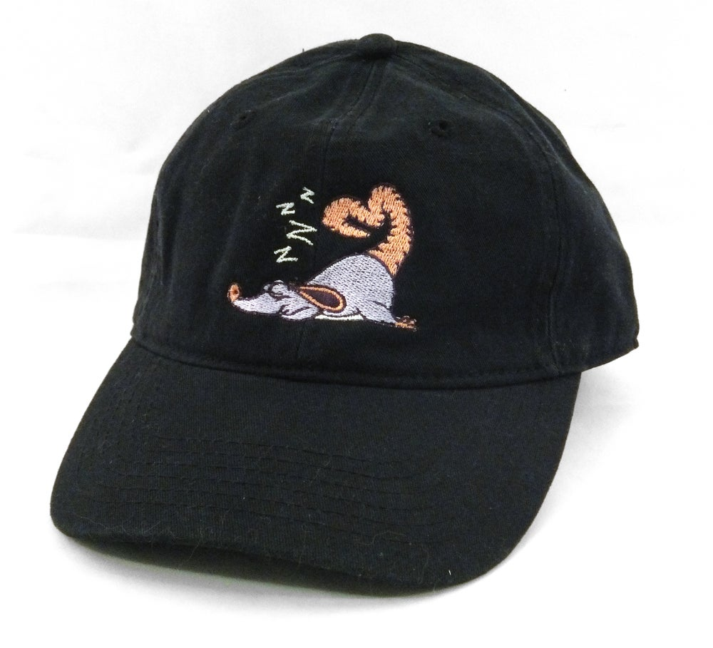 Image of Sleeping Mouse Embroidered Hat (Two colors available)