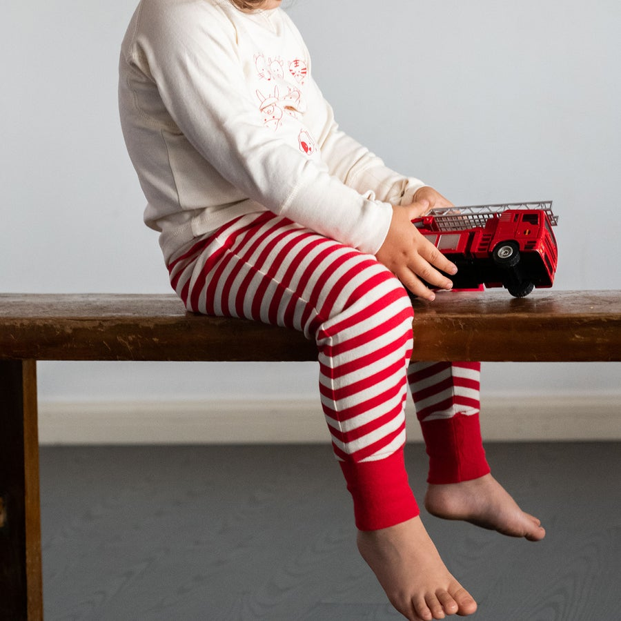 Image of Hello Harem Legging Pants . Candy Cane Stripe