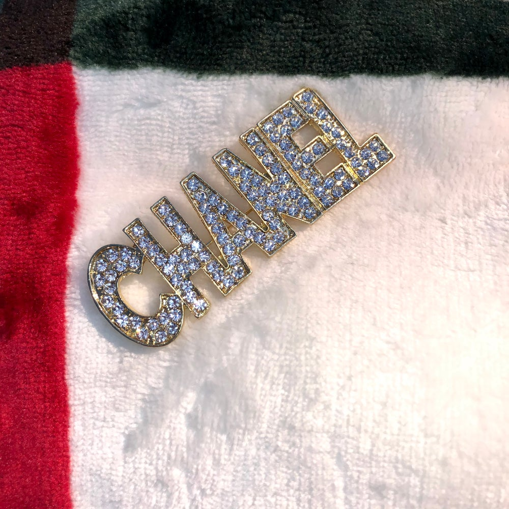 "Image of ""CHANEL"" Gold Brooch"