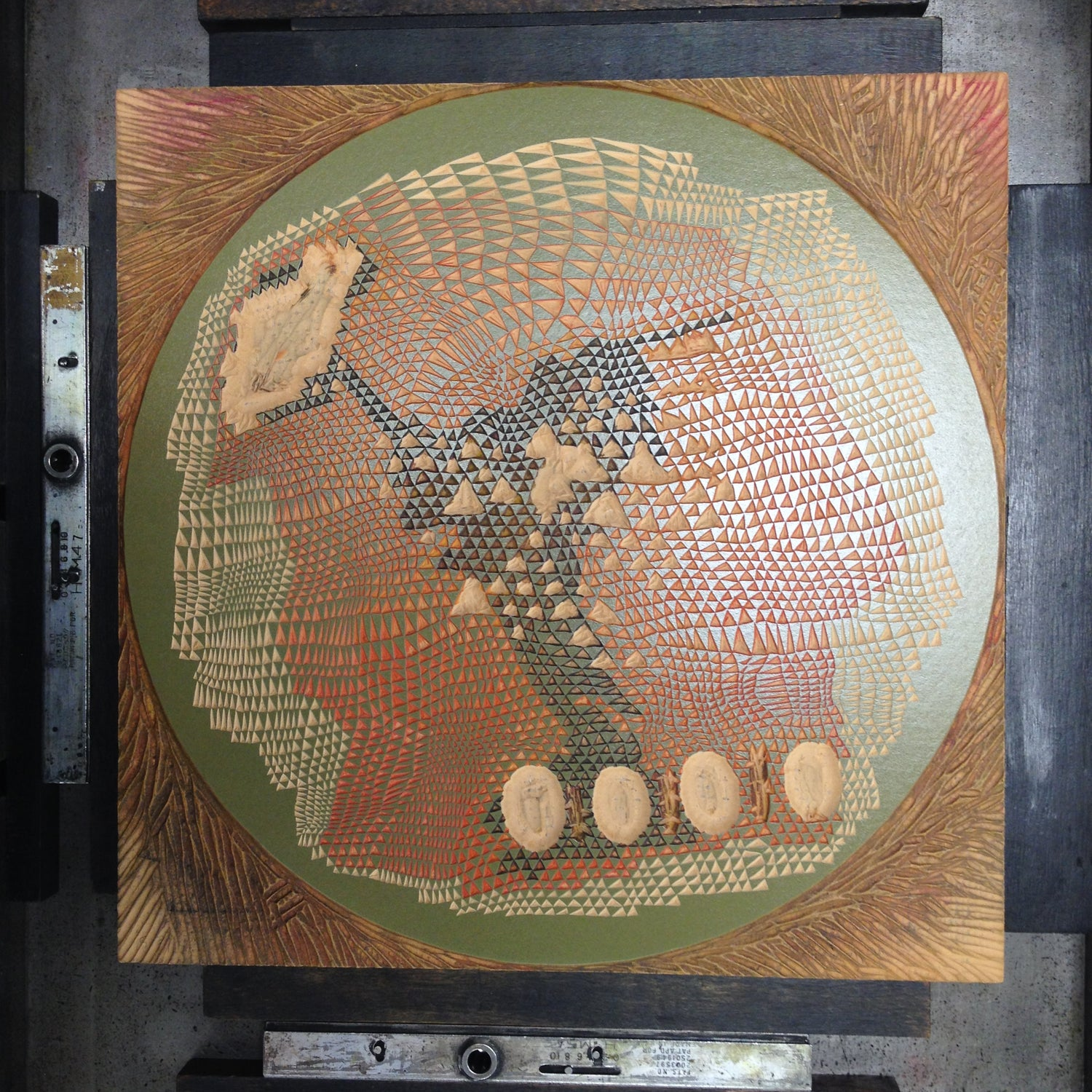 "Image of ""Planet 2"" Linoleum Relief Print"