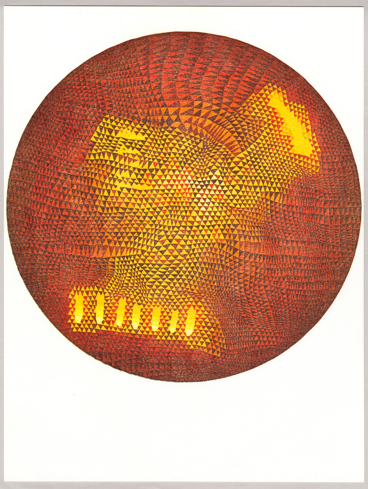 "Image of ""Planet 1"" Linoleum Relief Print"