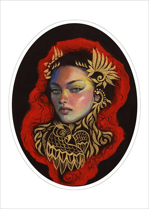 """Image of """"Athena"""" Limited and hand embellished edition prints"""