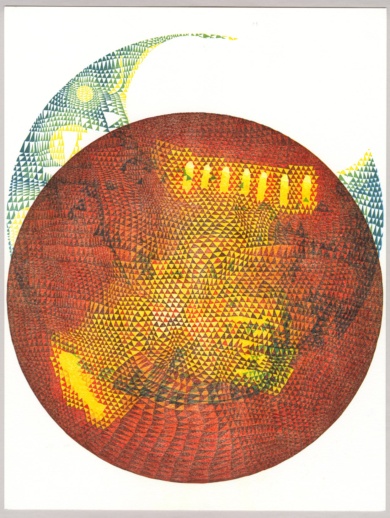 "Image of ""Cosmos"" Series Linoleum Relief Monoprints"
