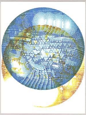 """""""Cosmos"""" Series Linoleum Relief Monoprints"""