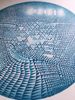 """Planet 2"" Linoleum Relief Print"