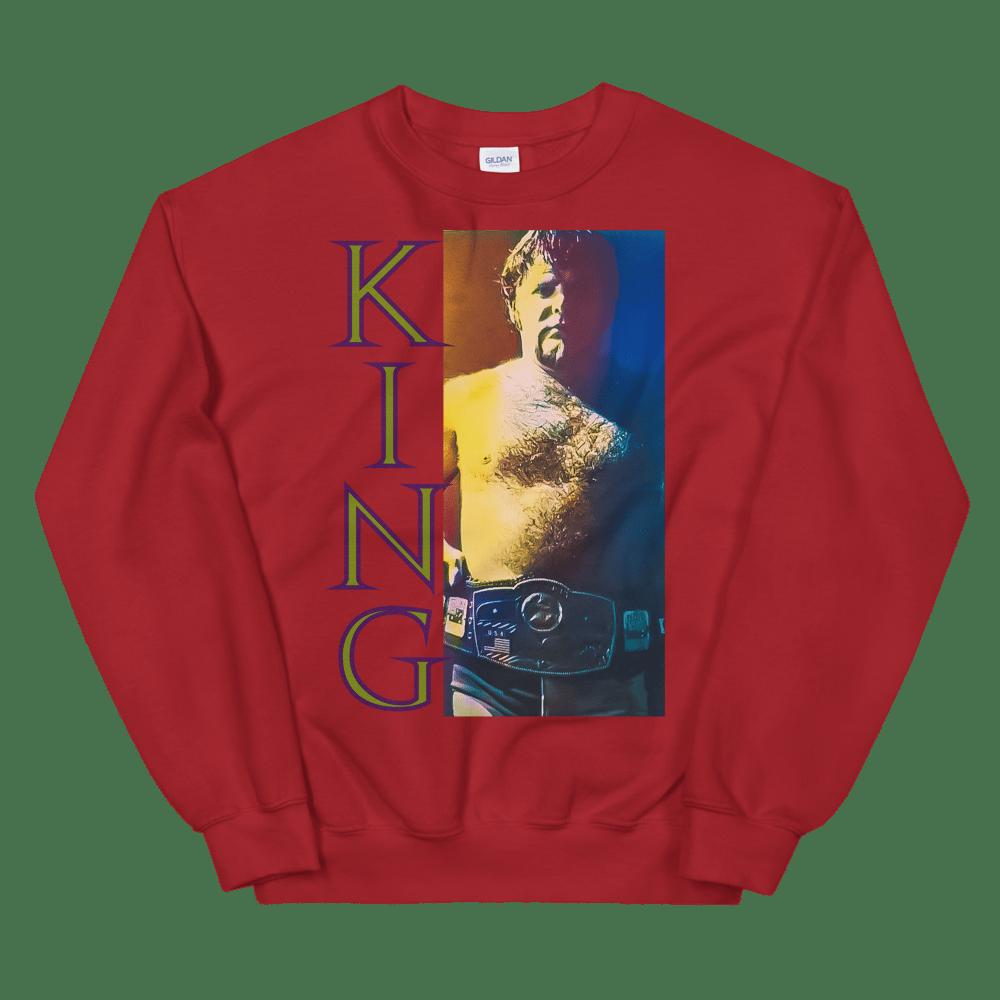 Image of Memphis Wrestling's King Crewneck: Jerry Lawler Wins NWA World Title (Sorta)