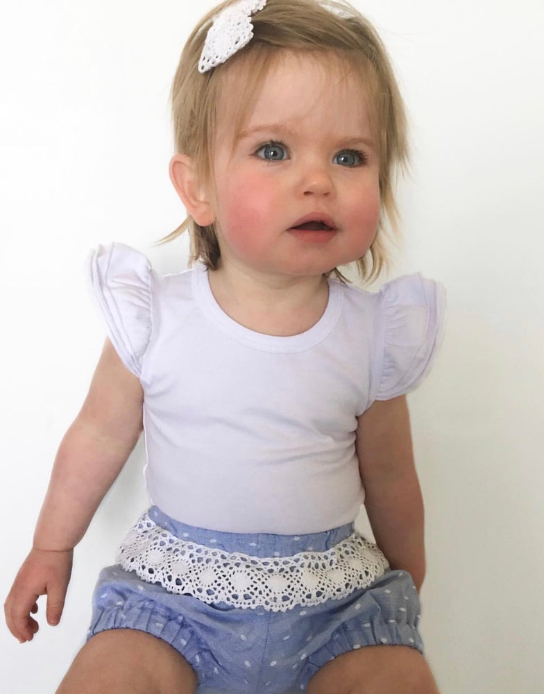 Image of Cotton bloomers with lace