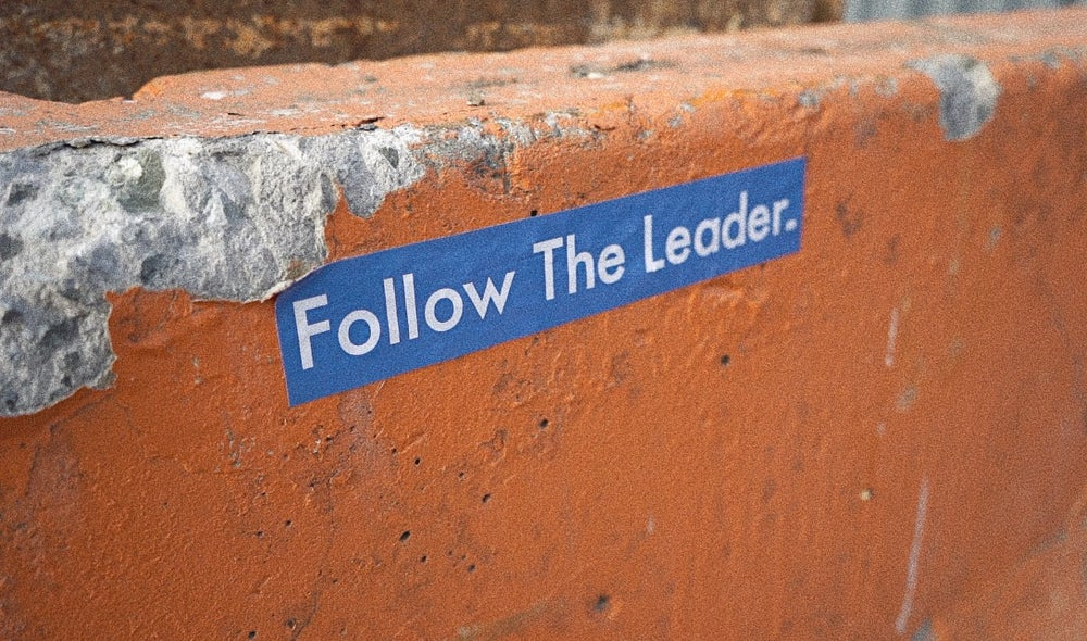 Image of Follow The Leader Type Sticker (Blue)
