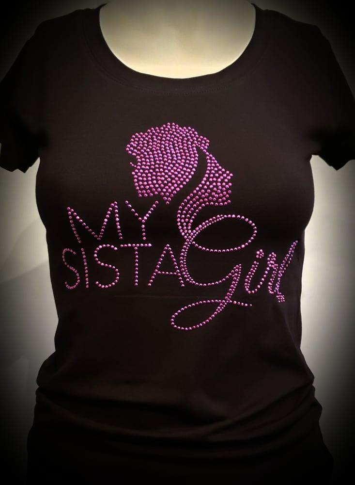Image of My Sista Girl Blng Tee - Purple