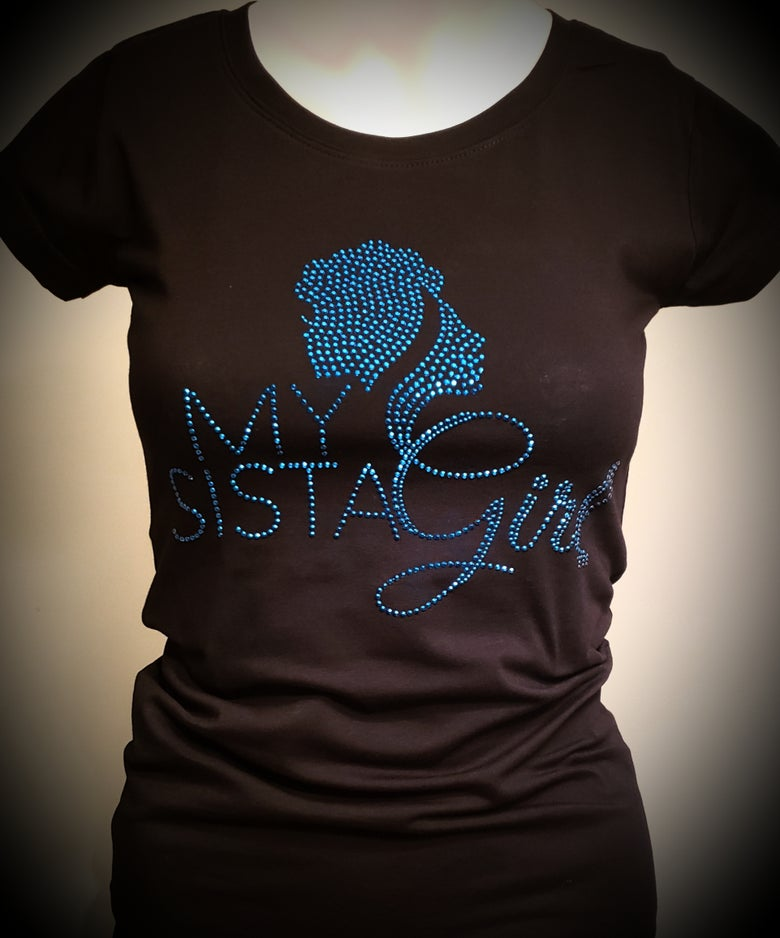 Image of My Sista Girl Bling Tee - Blue