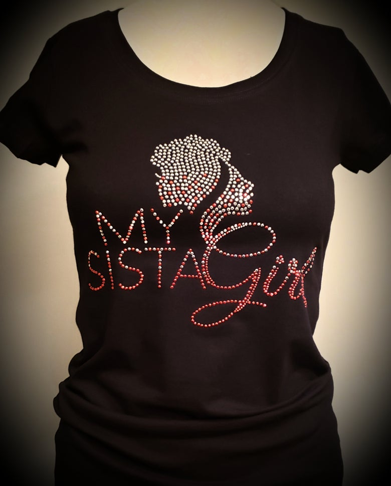 Image of My Sista Girl Bling - Red and Silver(Delta)