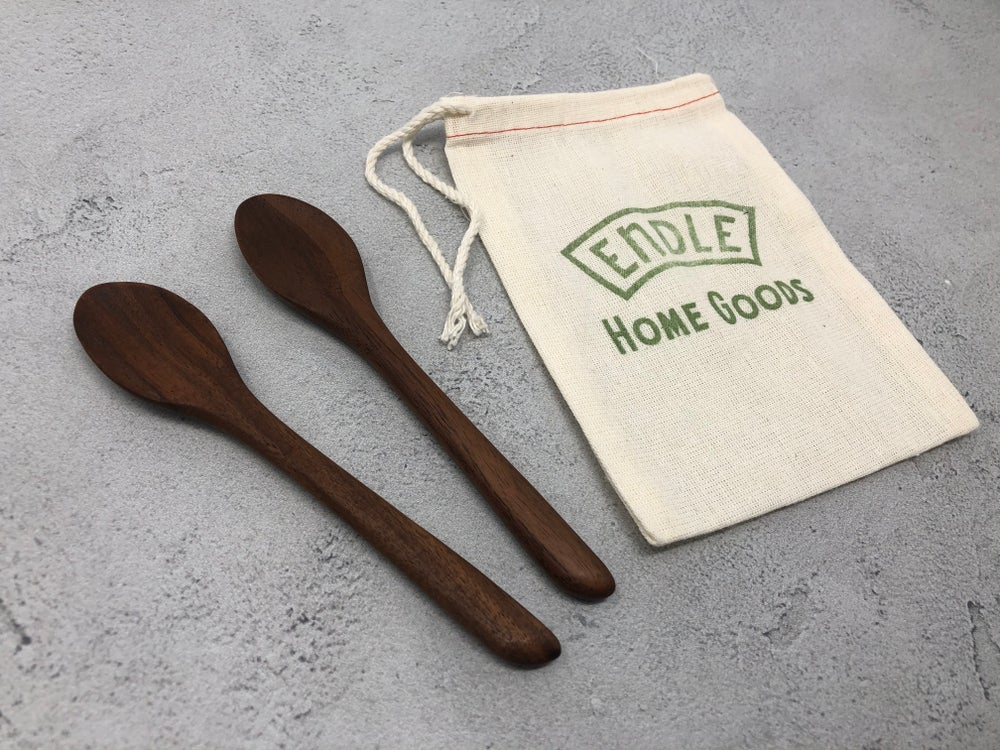 Image of Small walnut spoon set